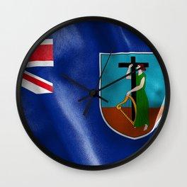 Montserrat Flag Wall Clock