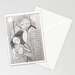 A childhood illustrated Stationery Cards