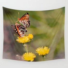 Butterfly Acrobats Wall Tapestry
