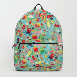 Candy Pattern - Teal Backpack
