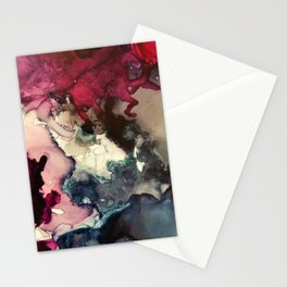 Dark Inks - Alcohol Ink Painting Stationery Cards