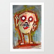 Jake the Zombie dog Art Print