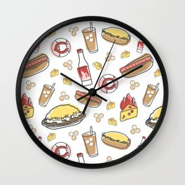 Skyline Chili Pattern Color Wall Clock