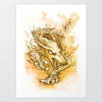 Gold Dragon Art Print