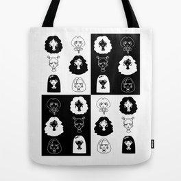 Girls' faces (black) Tote Bag