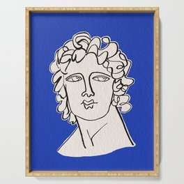 Alexander the Great statue Serving Tray