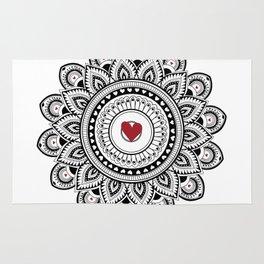 Mandala true love Rug