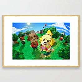 Animal Crossing Framed Art Print