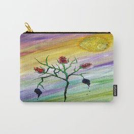 Tempered Rose Carry-All Pouch