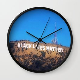 Black Lives Matter - Hollywood Sign Wall Clock