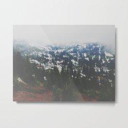 Mount Rainier in July Metal Print
