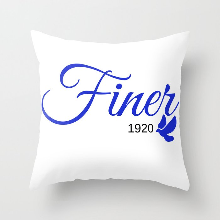 Finer 1920 Throw Pillow