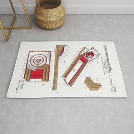 Skee Ball Patent Rug
