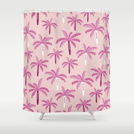 Sweet candy summer palm trees pattern Shower Curtain