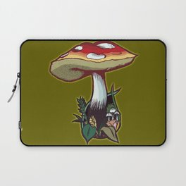 What a Fun Guy! Green Laptop Sleeve
