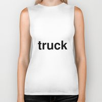 truck Biker Tanks featuring truck by linguistic94