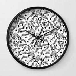 Black vintage lace . Wall Clock