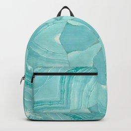 Jade Agate Stone Flower Backpack