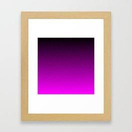 Black Purple Ombre Flames Framed Art Print
