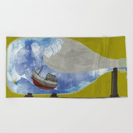 tossed to sea // jonah & the whale Beach Towel