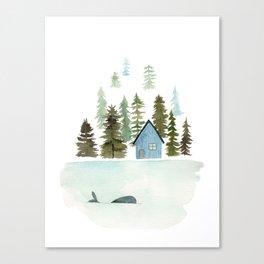 I see a whale! Canvas Print