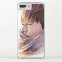 Watercolor Tae Clear iPhone Case