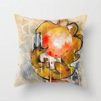 sun and moon Throw Pillows featuring Sun & Moon by Rubis Firenos
