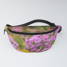 Pretty Pink Flowers in the Golden Garden Fanny Pack