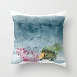 Hérisson Throw Pillow