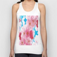 cherry blossoms Tank Tops featuring Cherry Blossoms by raven's_revelation_city_graphics