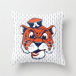 Old School Aubie Throw Pillow