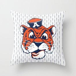 Old School Aubie Throw Pillow