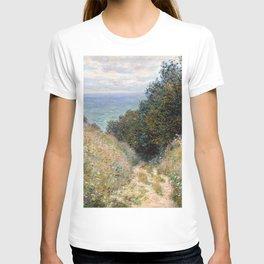 Road at La Cavée, Pourville by Claude Monet 1882 T-shirt
