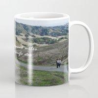 miles davis Mugs featuring Thousand Miles by Natalie Guardado