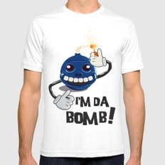 Da Bomb Mens Fitted Tee White SMALL