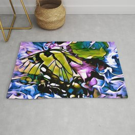 The Swallowtail Butterfly In Abstract Rug