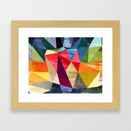colorful pattern abstract shapes Framed Art Print