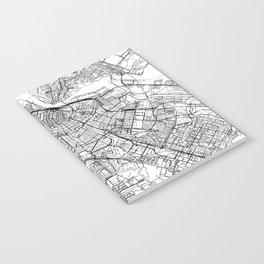 Amsterdam White Map Notebook