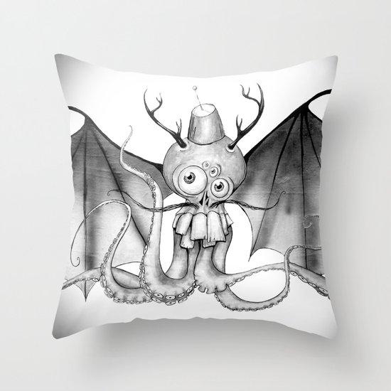 MonoChro-Monster Throw Pillow