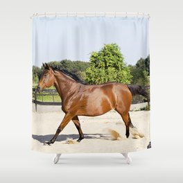 Running Autumn  Shower Curtain