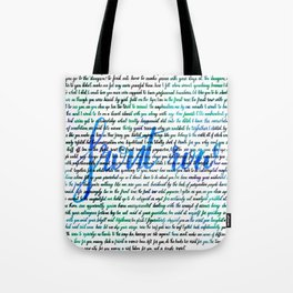 Front row blue Tote Bag