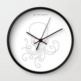 You octopi my heart Wall Clock