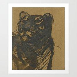 Franz Marc 1880 - 1916 LÖWIN (LIONESS) Art Print