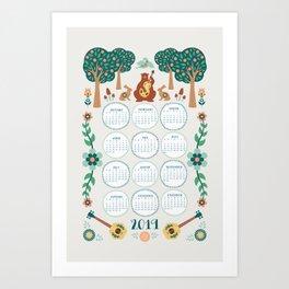 2019 Forest Folk Calendar Art Print