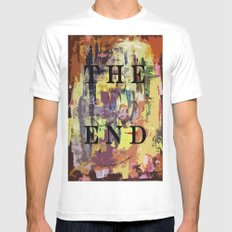 THE END Mens Fitted Tee SMALL White