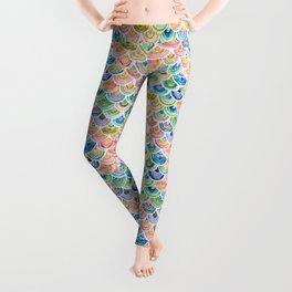 STRANGEBOW Rainbow Mermaid Scallop Leggings