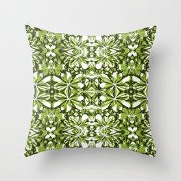 Stylized Nature Print Pattern Throw Pillow