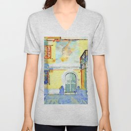 Shadow with door and windows Unisex V-Neck