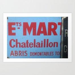 Sign No. 6: Les Marchés aux Puces dans le Porte de Clignancourt (2008) Art Print
