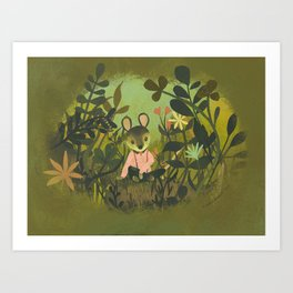 Mouse in the Grass Art Print